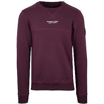 Marshall Artist Burgundy Crew Neck Sweatshirt