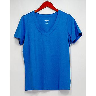 Liz Clairborne New York Top T-shirt Kurzarm Heathered Blue