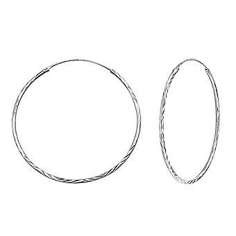 Hoop - 925 Sterling Silver Ear Hoops - W15042x