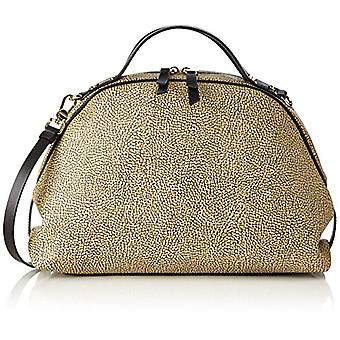 Sexy Bourbons with T Women's Brown Hand Bag (Gold/Black) 36x25x15 cm (W x H x L)