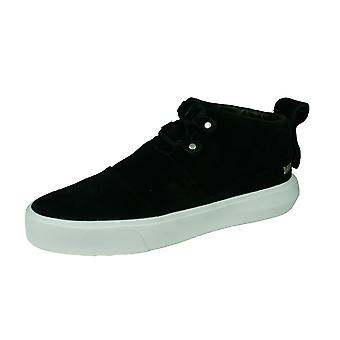 Supra Charles Mens Suede Casual Trainers / Mid Tops - Black