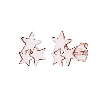 Elli Ohrringe Damen Pin in Silber 925 - Stern-Muster - Rose Gold