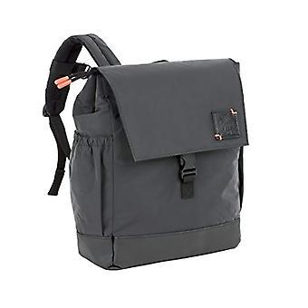 Lassig Little One & Me Backpack Small Black Reflective Children's Backpack - 28 cm - Black (Schwarz)