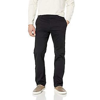 Dockers Men's Straight Fit Original Khaki Pants, Black,, Black, Size 42W x 32L