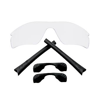 SeekOptics Replacement Lenses Accessories Kit for Oakley RADAR PATH Clear & Black Non-Polarized Polycarbonate UV400