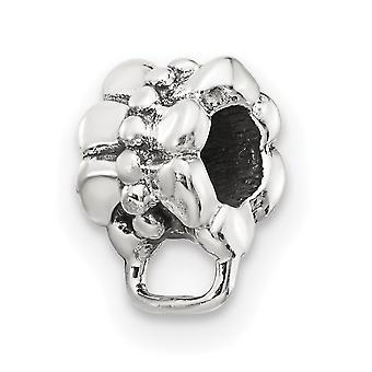 925 Sterling Silver Polished Reflections Loop Clic en abalorios encanto colgante collar regalos de joyería para las mujeres