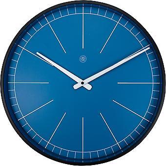 nXt - Wall clock - Ø 40 cm - Plastic - Blue - 'Ethan'