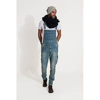 Toby slim fit dungarees - aged blue
