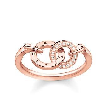 Thomas Sabo Sterling Silver Thomas Sabo Ladies Glam And Soul Rose Gold Together Ring TR2141-416-40