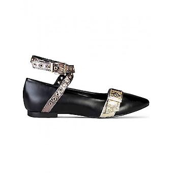 Made in Italia - Shoes - Ballerinas - ANTONELLA_NERO-ORO-CDF - Women - black,gold - 41