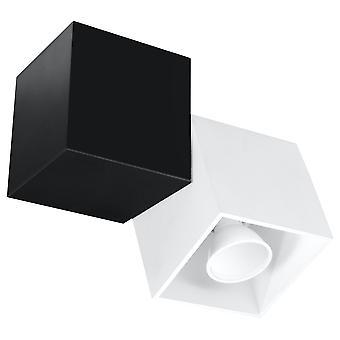 Sollux OPTIK 1 Light Ceiling White, Black SL.0475
