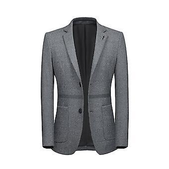 Allthemen Men-apos;s Thick Blazer Waist Clorblocked Casual Suit Veste