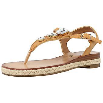 Gele winkel sandalen 91592 5 kleur Tan