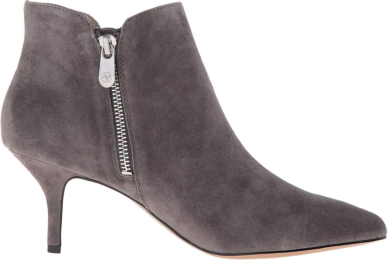 Adrienne Vittadini Womens Senji pelle sottolineato moda stivali alla caviglia