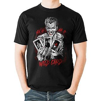 Batman Unisex Adultes Wildcard Joker T-Shirt