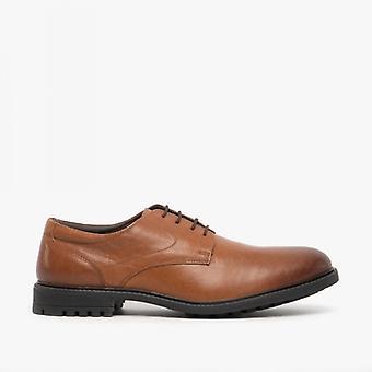 Dr Keller Ezra Mens Leather Derby Shoes Tan