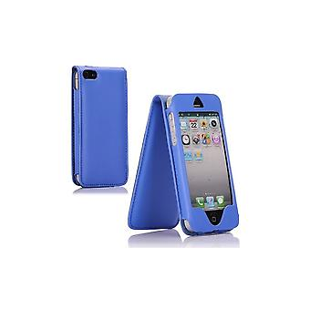 Blue Cover Vertical Opening For Apple IPhone 5