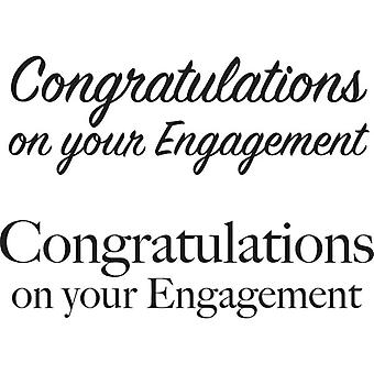 Woodware Just Words - Engagement Stamp Set