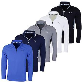 Puma Golf Męski Obrót 1/4 Zip DryCell Wilgoć Wicking Stretch Sweter