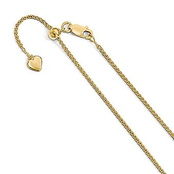 Leslie 925 Sterling Silver Polished Lobster Claw Closure 1.5 mm 14k Gold Plated Spiga Chain Necklace Joias