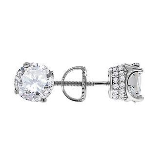 925スターリングシルバーメンズCZキュービックジルコニアシミュレートダイヤモンド7mmホワイトストーンスタッドイヤリングジュエリーギフト男性用
