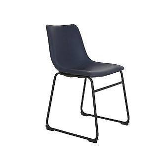 Light & Living Dining Chair 55x45x79cm Jeddo Dark Blue