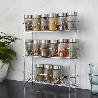 Vrijstaand Spice Rack in Chrome Plated