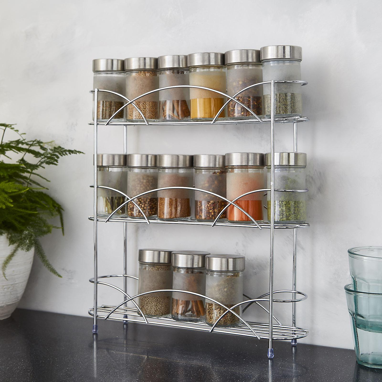 Free Standing Spice Rack in Chrome Plated