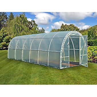 Polytunnel Greenhouse 140, 2.2 x6x 1.9 m, 13,2 m², läpinäkyvä