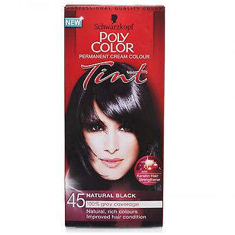 Schwarzkopf 3 X Poly Hair Color Tint - Natural Black 45