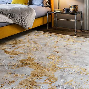 Astral Rugs As09 In Ochre Yellow