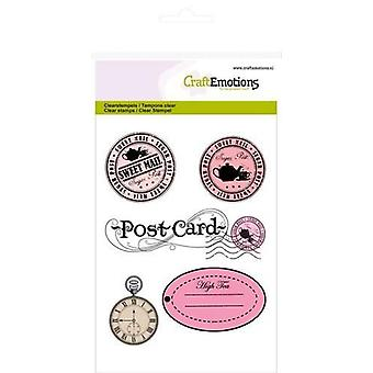 CraftEmotions Clear Stamps A6 - stamps and label High Tea Rose