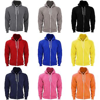 American Apparel voksne unisex Flex Plain full zip fleece Hettegenser