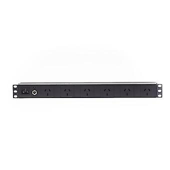 1Ru 6 Way Gpo Rack Mount Pdu Power Rail