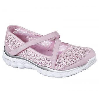Skechers Skech Flex 2.0 Comfy Crochetes Girls Summer Shoes Pink/silver