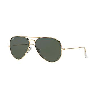 Lunettes de soleil Ray-Ban Aviator RB3025 001 Gold Arista/ Grey-Green