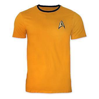 Star Trek T-Shirt uniform af kaptajn James t. Kirk / chef