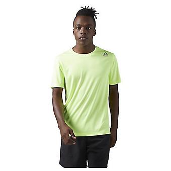 Men�s Short Sleeve T-Shirt Reebok RUN SS TEE Green/S