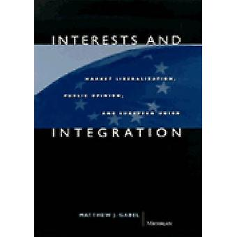 Interests and Integration - Market Liberalization - Public Opinion and