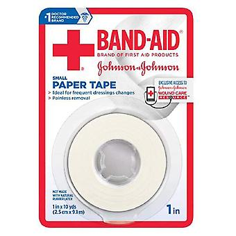 Band-aid small paper tape, 1 inch x 10 yards, 1 ea