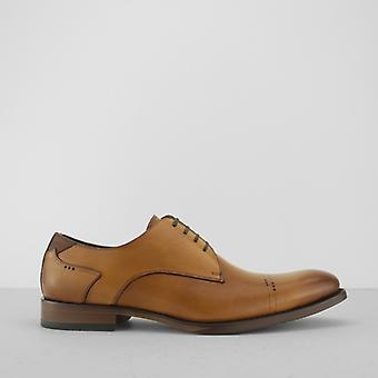 Azor Salermo Mens Leather Derby Shoes Tan