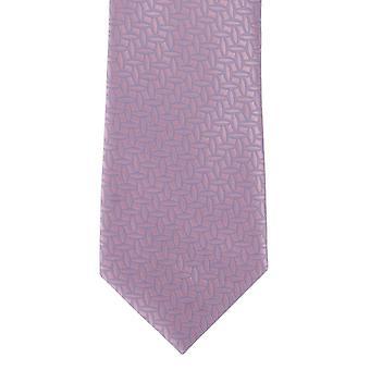 Michelsons London Umriss geometrische Polyester Krawatte - Pink
