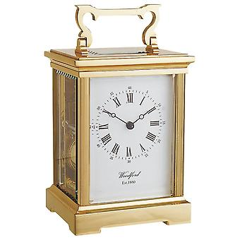 Woodford Grande Anglaise 8 Day Movement Brass Carriage Clock - Gold