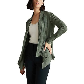 Esprit Women's Open Ribbed Cardigan Khaki