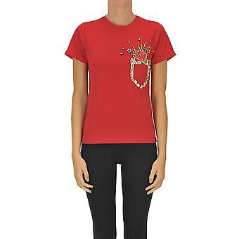 Sweet Matilda Ezgl314044 Women's Red Cotton T-shirt