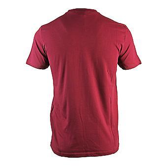 Roberto Cavalli Brand Logo Burgundy T-Shirt