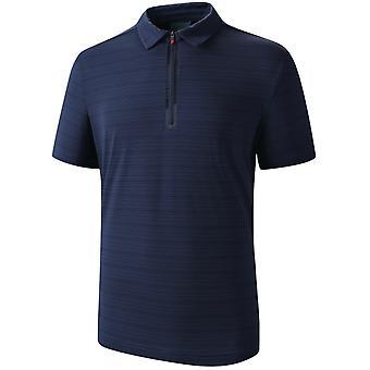 Allthemen Men's Lapel Casual Short-Sleeve T-Shirt