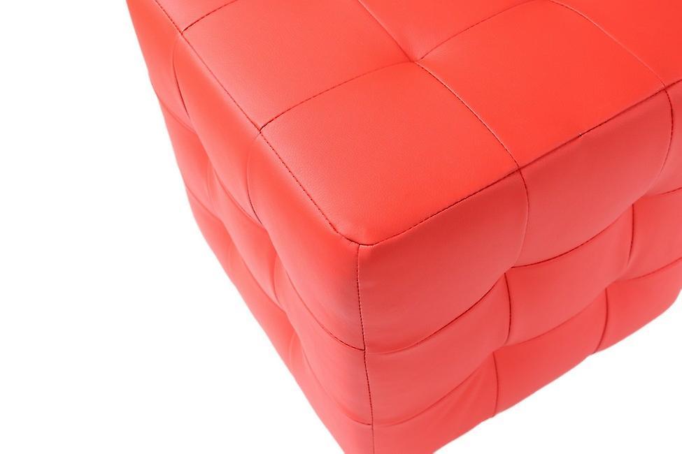 Pouf Dablo Color Rosso in PU 44x44x46 cm