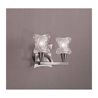 Rosa Del Desierto Wall Light With Switch 2 Bulbs G9, Satin Nickel