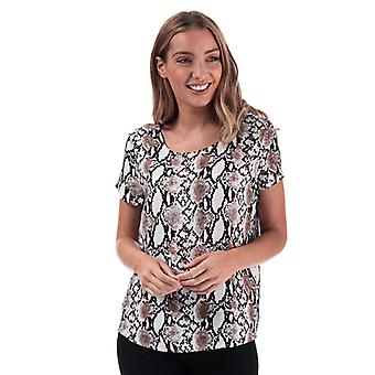 Women's Only First Snake Print Top in Cream